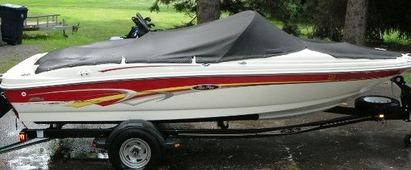 TRAILERABLE BOAT COVER  SEA RAY 176 //SRX BOWRIDER I//O 2002 2003