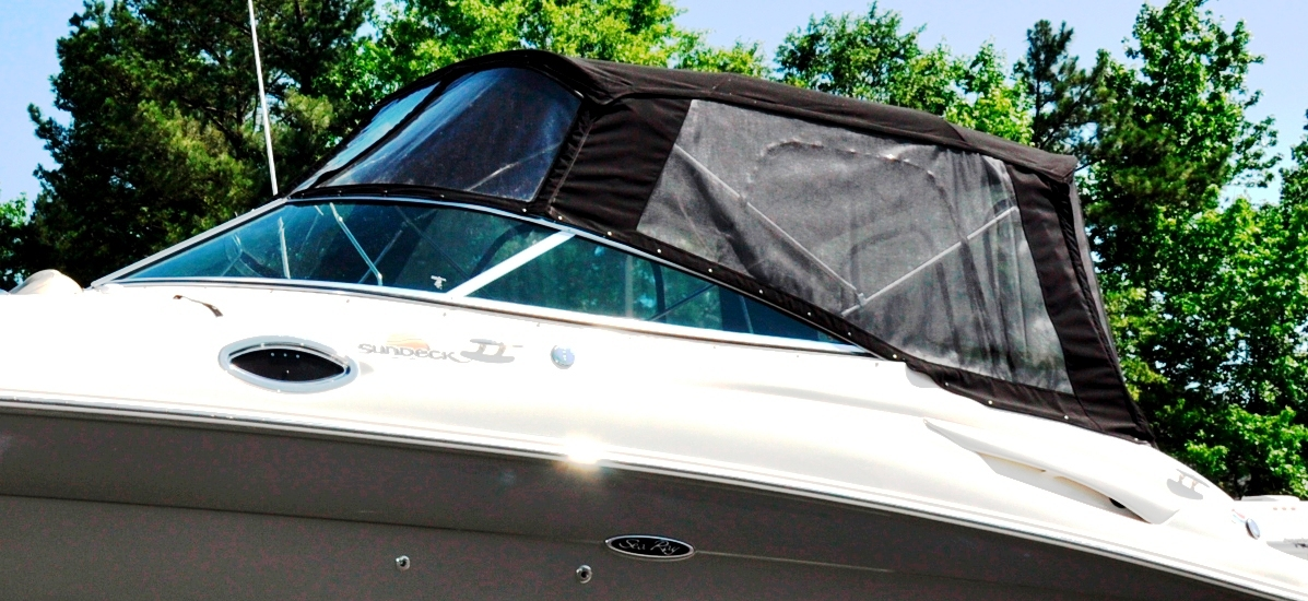 Bimini Side-Curtains (Factory OEM) for Sea Ray® 270 Sundeck No Tower