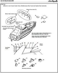 sea ray 310 sundancer 1999 2002 factory original oem canvas rh rnr marine com sea ray 240 sundancer parts manual 2008 sea ray 240 sundancer parts manual