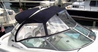 Sea Ray® 340 Sundancer Factory OEM Sunbrella® Bimini Top, Visor, Bimini-Top Enclosure Curtains and Sunshade-Top