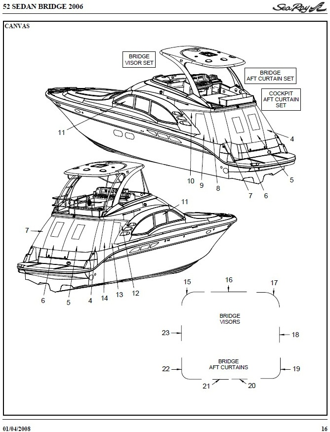 Bridge Hard-Top Full Enclosure Strata (Factory OEM) for Sea Ray® 52