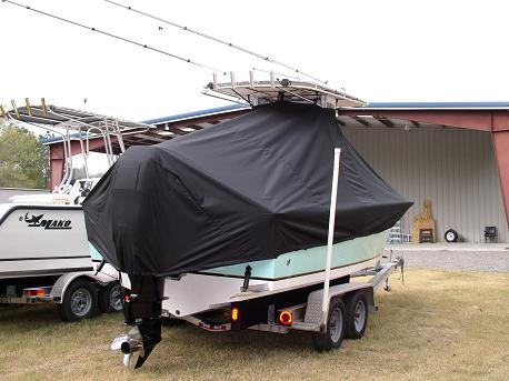 SeaCraft 23CC, 20xx, TTopCovers™ T-Top boat cover, starboard rear