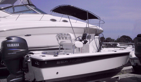 Shadow™ folding T-Top kit on 2012 Sea Hunt® XP21™