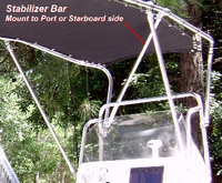 Shadow-Stabilizer™The Shadow(tm) Stabilizer Bar stabilizes the Shadow(tm) and Montauk-Shadow(tm) folding T-Tops to reduce sway in heavy seas