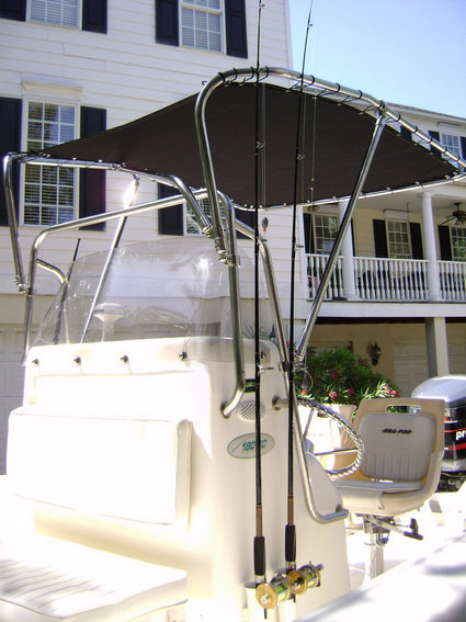 Picture of T-Topless™ Shadow™ with Rods in Console Rod Holders