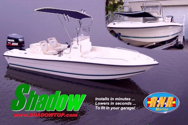 RNR-Marine™ Patent-Pending T-Topless™ Shadow™ Folding T-Top Kit PostCard Image