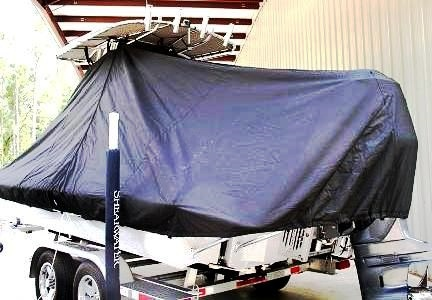Shearwater 22TE, 20xx, TTopCovers™ T-Top boat cover, port rear