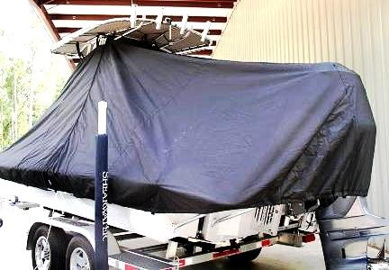 Shearwater 22, 20xx, TTopCovers™ T-Top boat cover, port rear