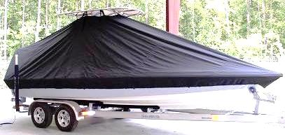 Shearwater 22, 20xx, TTopCovers™ T-Top boat cover, starboard front