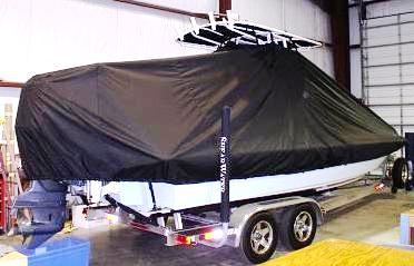 Shearwater 24, 20xx, TTopCovers™ T-Top boat cover, starboard rear