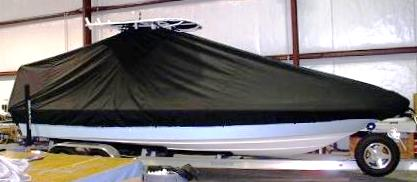 Shearwater 24, 20xx, TTopCovers™ T-Top boat cover, starboard side