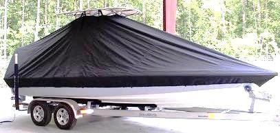 Shearwater X2200 Coastal, 20xx, TTopCovers™ T-Top boat cover, starboard front