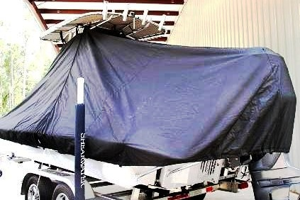 Shearwater X22, 20xx, TTopCovers™ T-Top boat cover, port rear