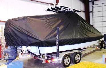 Shearwater Z2400, 20xx, TTopCovers™ T-Top boat cover, starboard rear