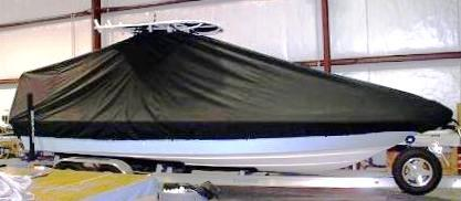 Shearwater Z2400, 20xx, TTopCovers™ T-Top boat cover, starboard side