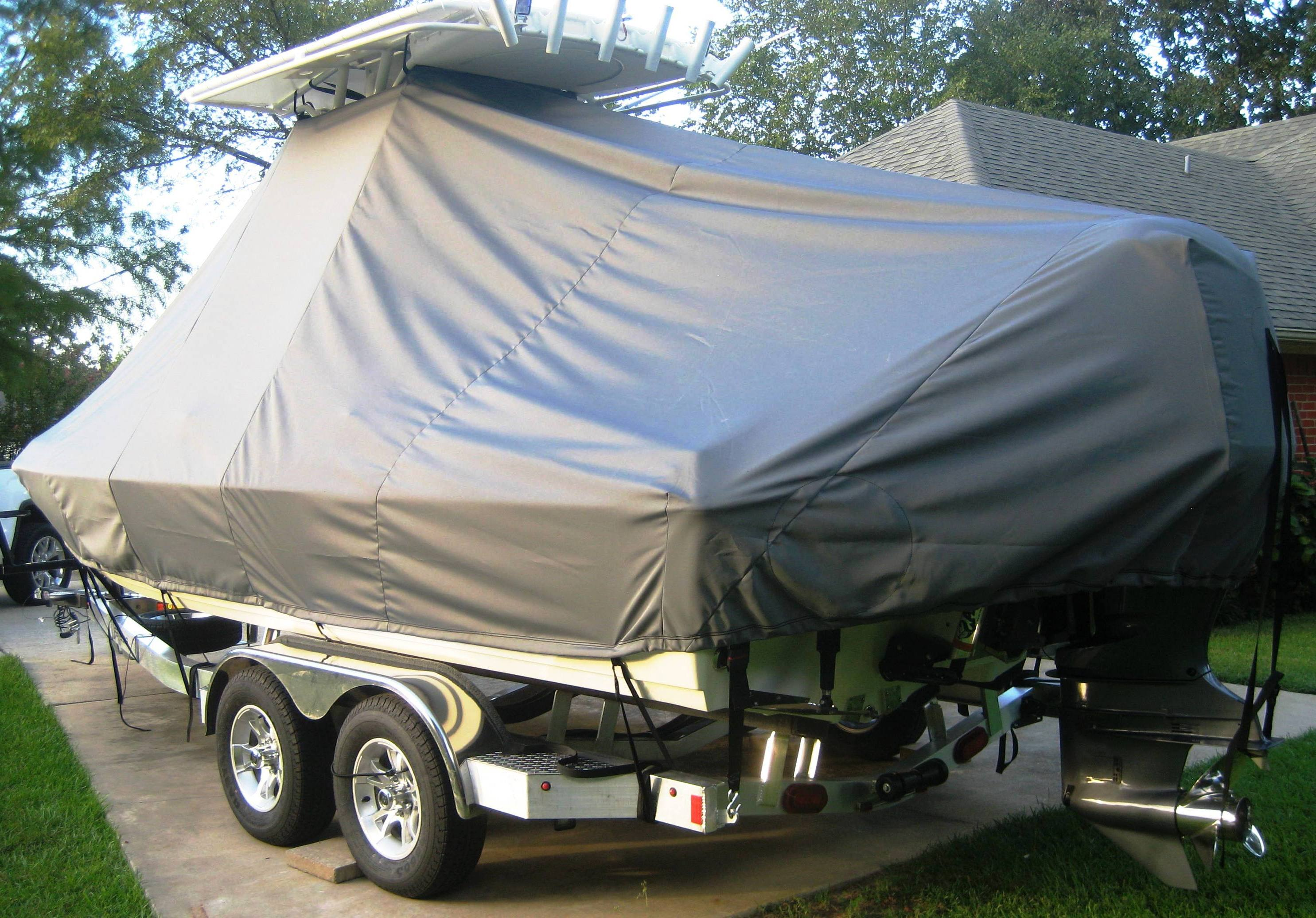 Skeeter SX 2250, 19xx, TTopCovers™ T-Top boat cover, starboard rear