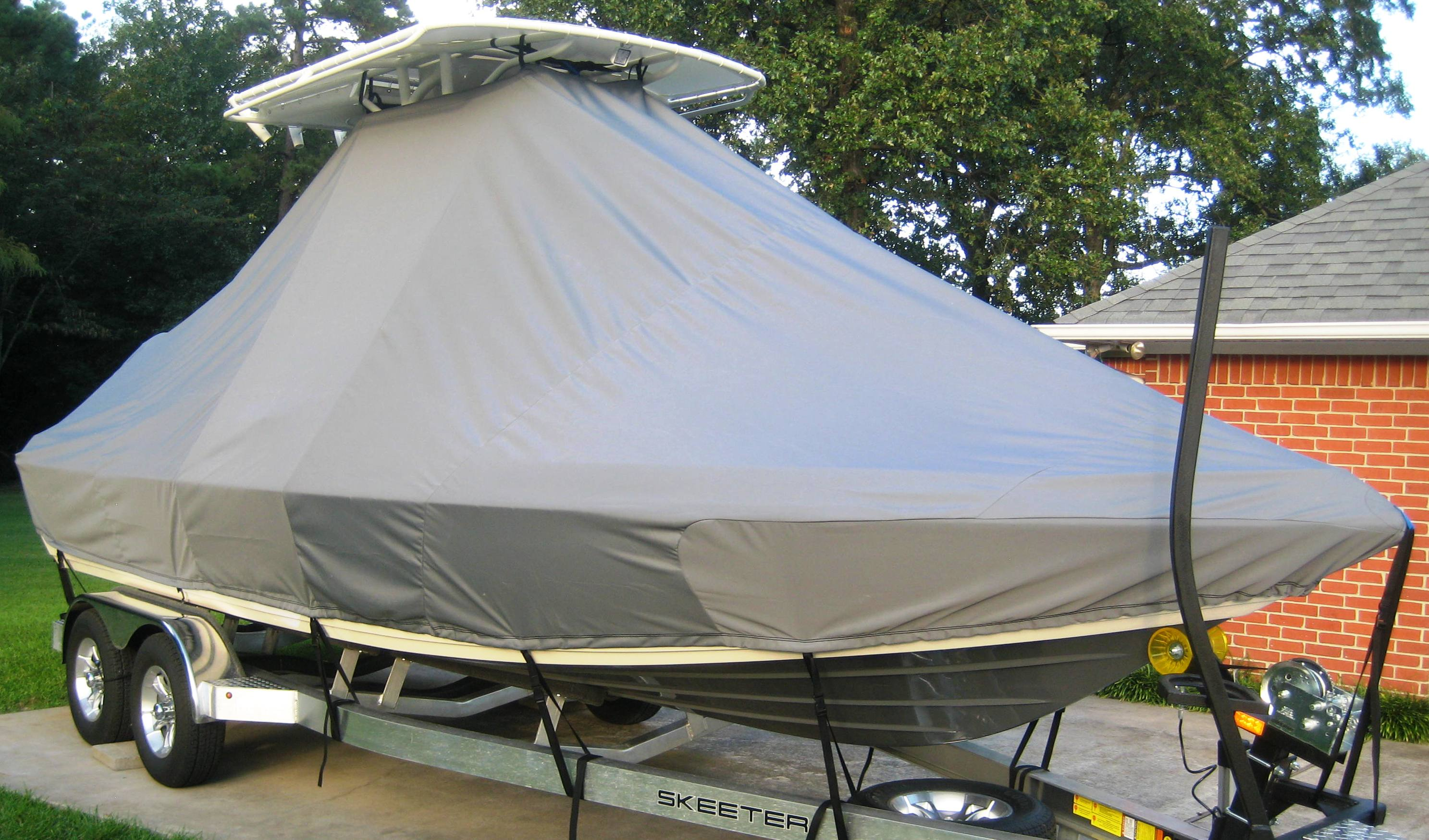 Skeeter SX 2250, 20xx, TTopCovers™ T-Top boat cover, starboard front