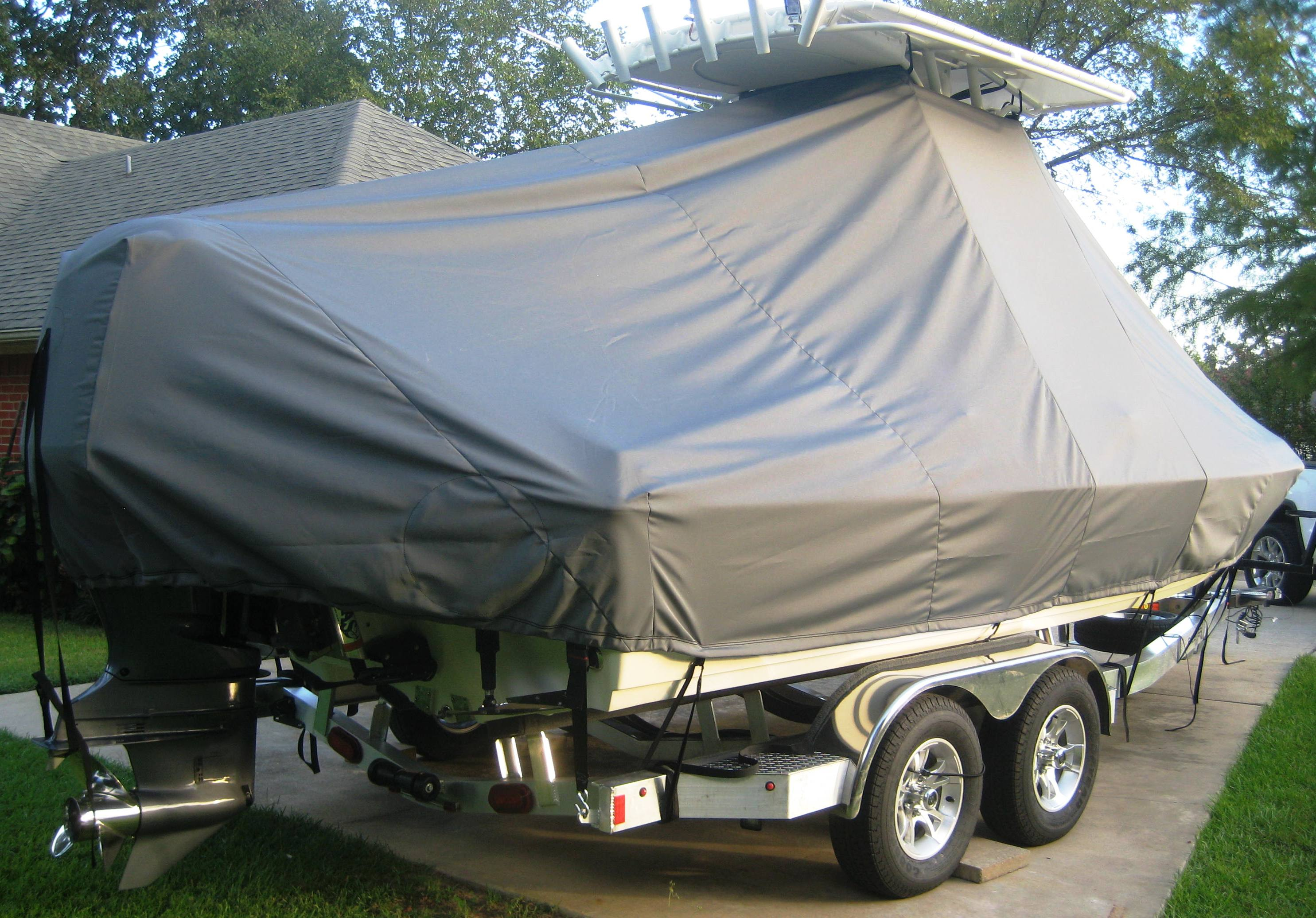 Skeeter SX 2250, 20xx, TTopCovers™ T-Top boat cover, starboard rear
