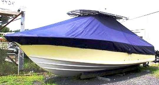 Southport 28 Tournament Edition, 20xx, TTopCovers™ T-Top boat cover, port front