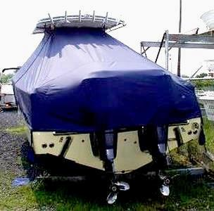 Southport 28 Tournament Edition, 20xx, TTopCovers™ T-Top boat cover rear