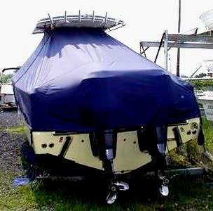 Southport 28CC, 20xx, TTopCovers™ T-Top boat cover rear