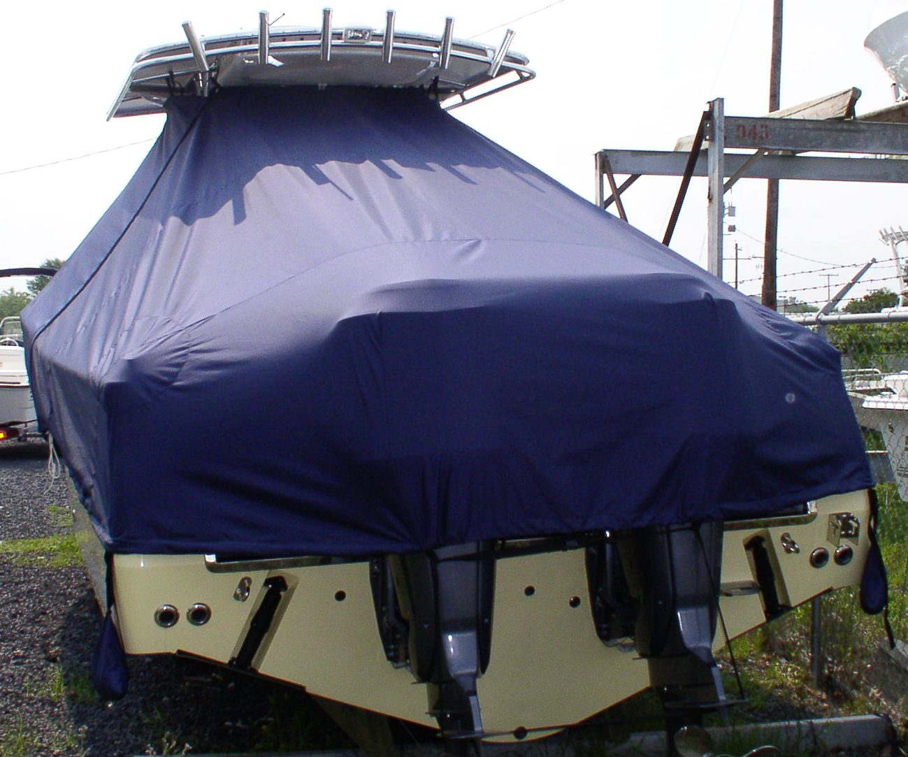 Southport 29cc, 20xx, TTopCovers™ T-Top boat cover rear