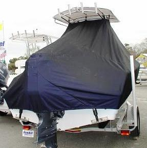 Sportsman 211, 20xx, TTopCovers™ T-Top boat cover rear