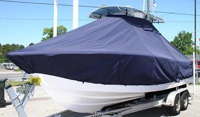 Sportsman 229 Heritage, 20xx, TTopCovers™ T-Top boat cover, port front