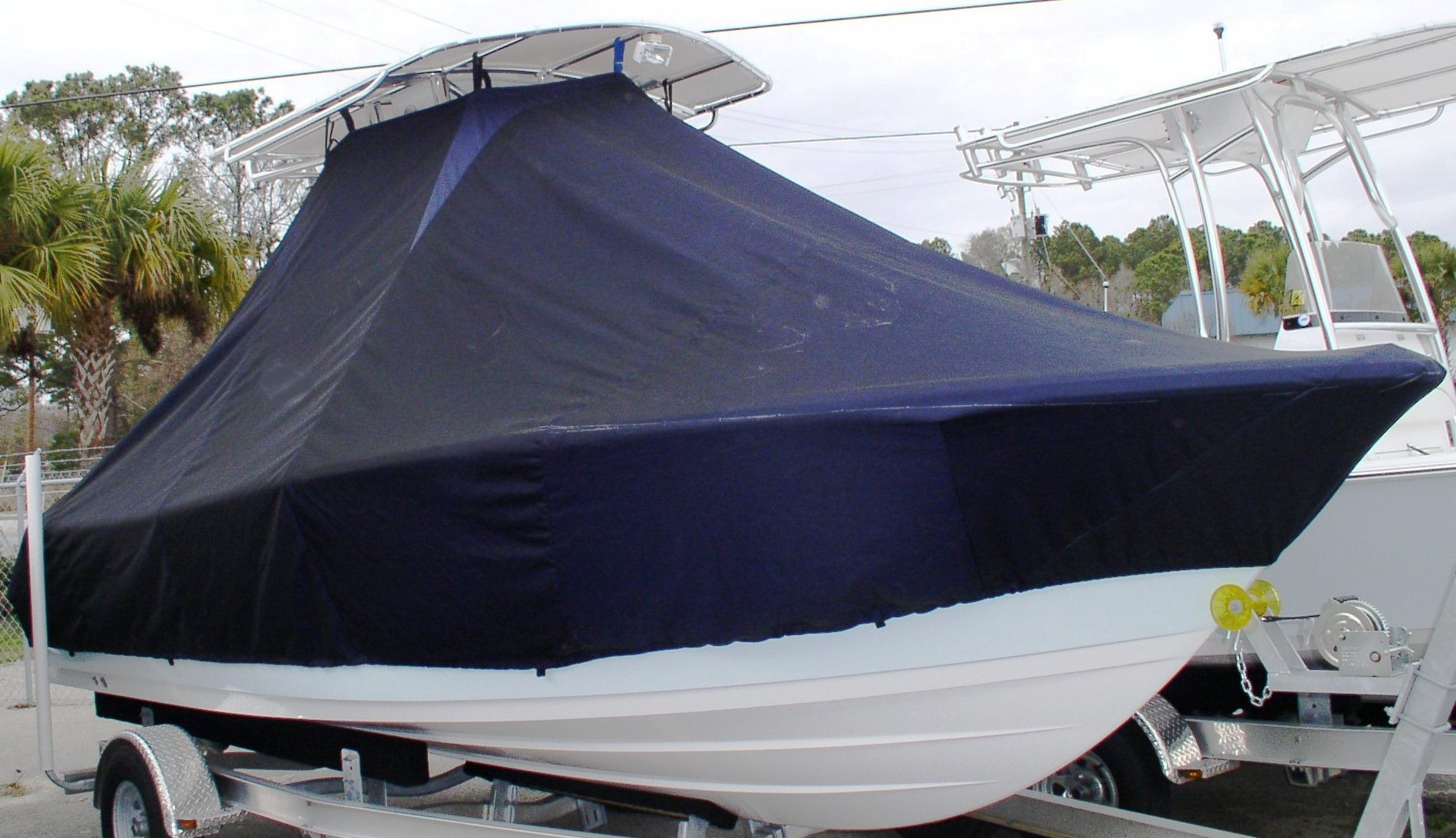 Sportsman Heritage 211, 20xx, TTopCovers™ T-Top boat cover, starboard front