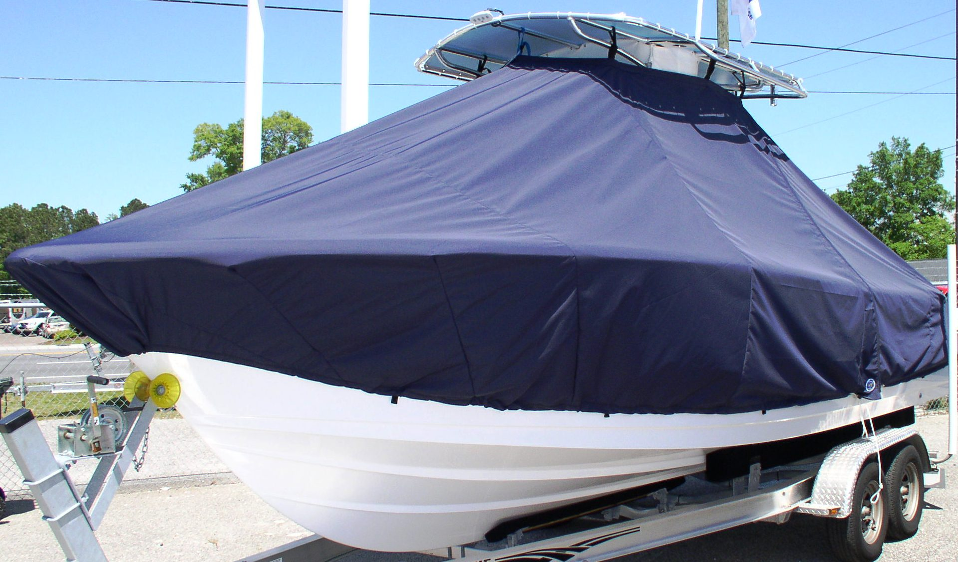Sportsman Heritage 229, 20xx, TTopCovers™ T-Top boat cover, port front