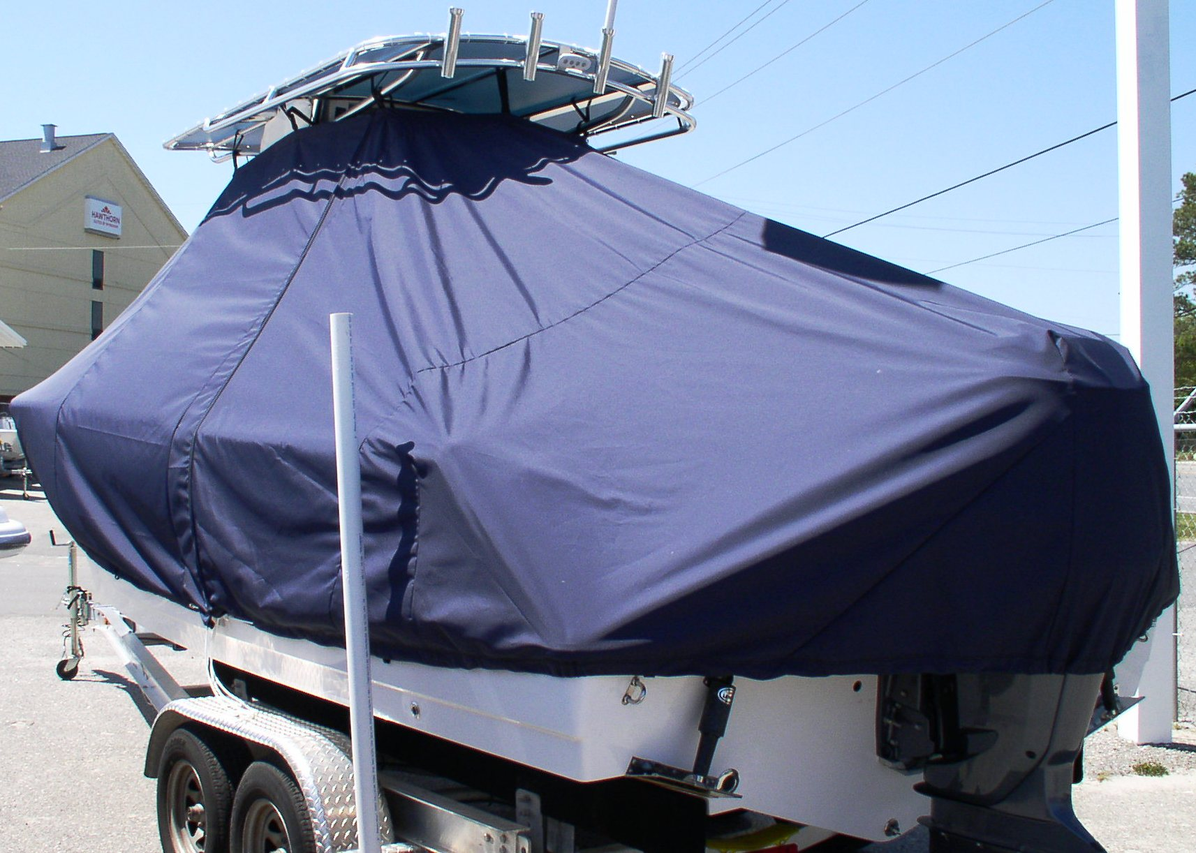 Sportsman Heritage 229, 20xx, TTopCovers™ T-Top boat cover, port rear