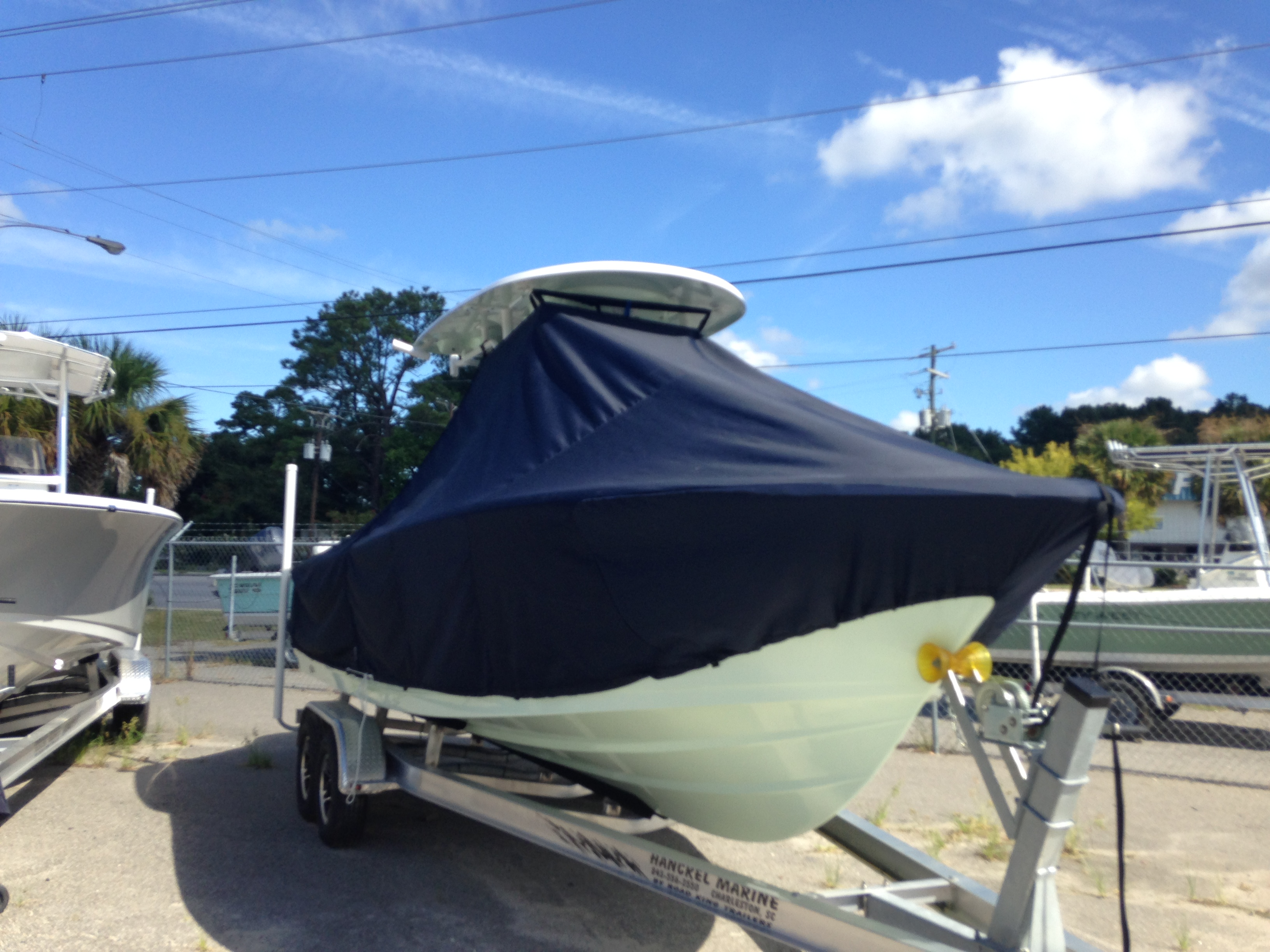 Sportsman Heritage 231 Platinum, 20xx, TTopCovers™ T-Top boat cover, starboard front