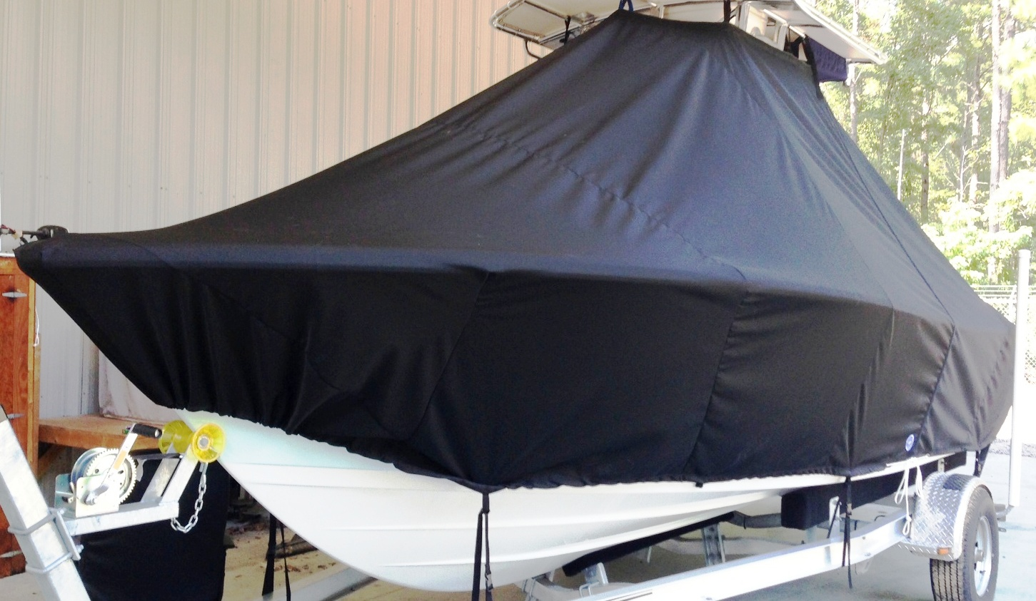 Sportsman Heritage Platinum 211, 20xx, TTopCovers™ T-Top boat cover, port front