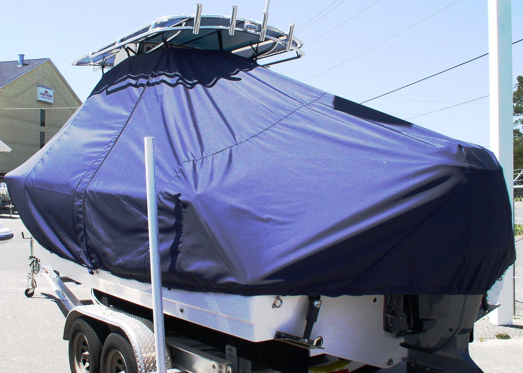 Sportsman Heritage Platinum 231, 20xx, TTopCovers™ T-Top boat cover, port rear