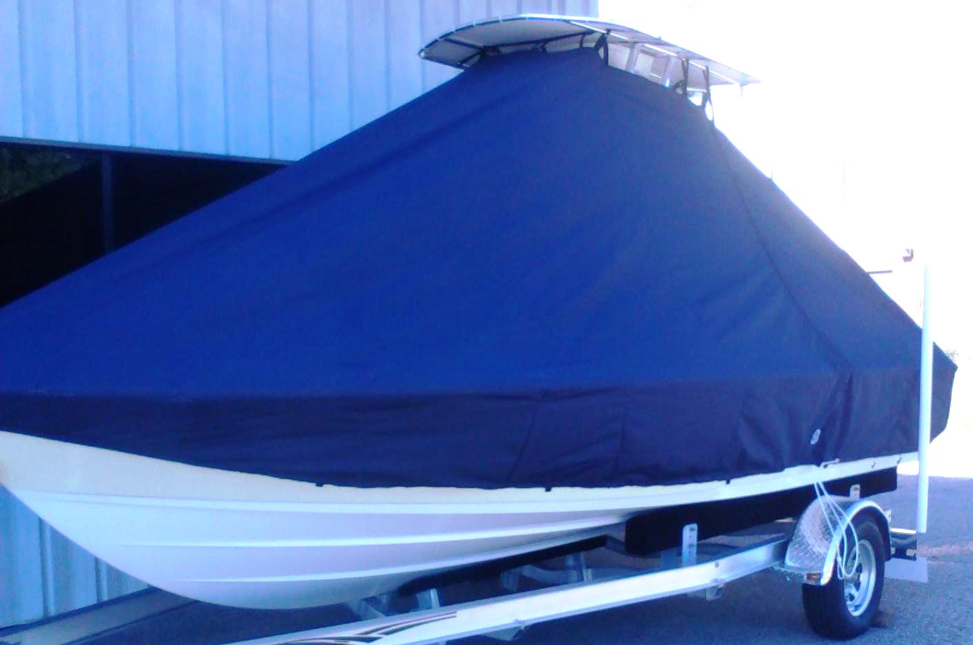 Sportsman Masters 207, 20xx, TTopCovers™ T-Top boat cover, port front