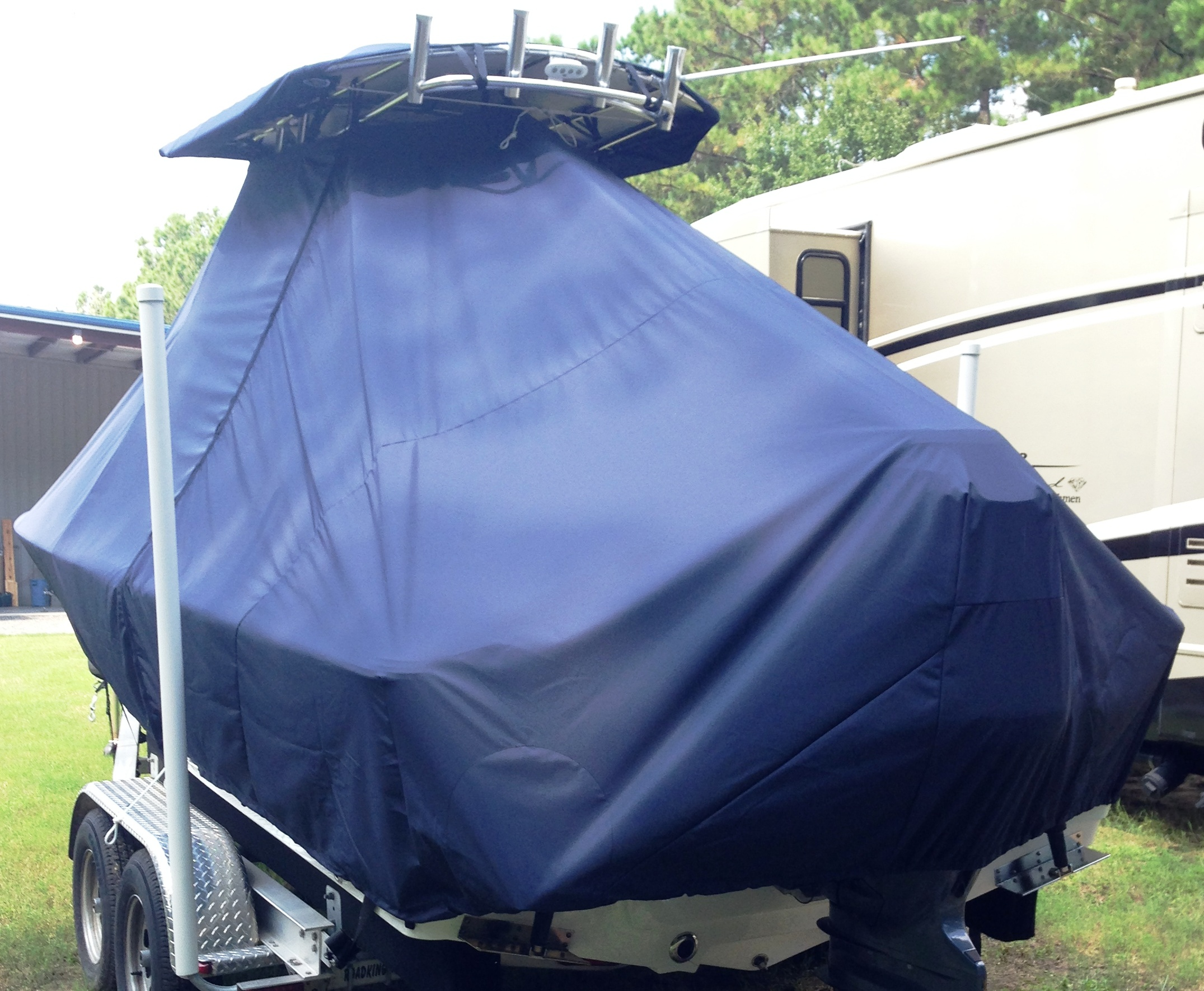 Sportsman Masters 227, 20xx, TTopCovers™ T-Top boat cover, port rear