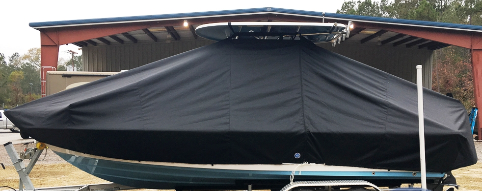 Sportsman Masters 227, 20xx, TTopCovers™ T-Top boat cover, port side