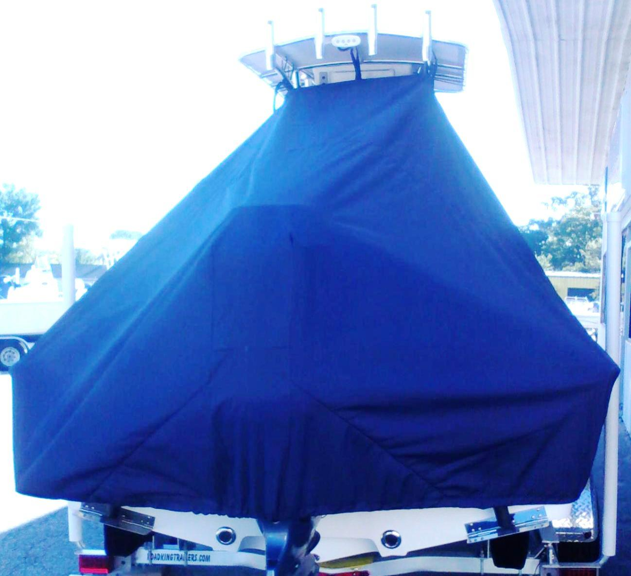 Sportsman Masters Platinum 207, 20xx, TTopCovers™ T-Top boat cover rear