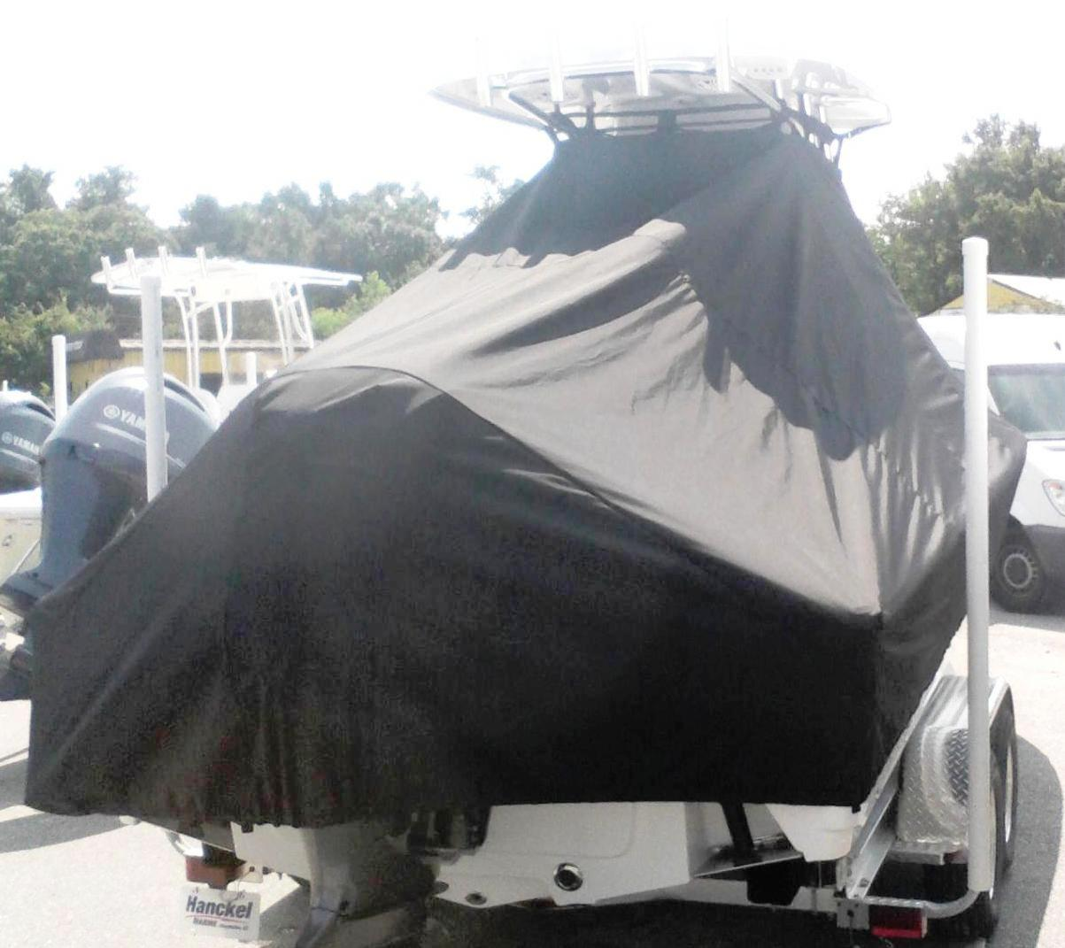 Sportsman Masters Platinum 247, 20xx, TTopCovers™ T-Top boat cover, starboard rear