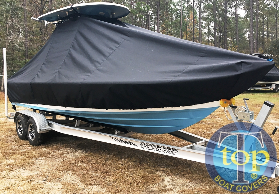Sportsman Masters Platinum 227, 20xx, TTopCovers™ T-Top boat cover, starboard front