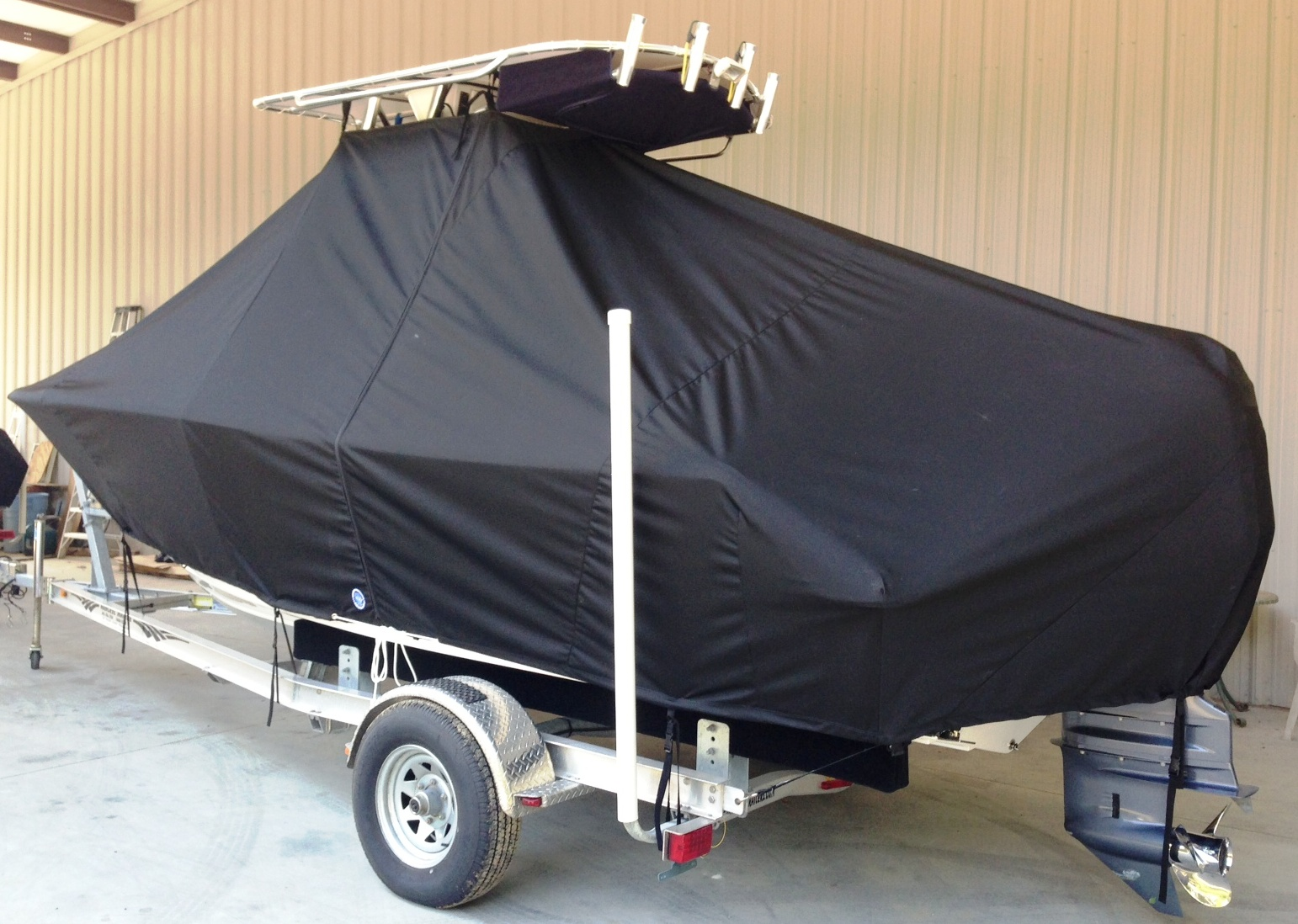 Sportsman Open 212, 20xx, TTopCovers™ T-Top boat cover, port rear