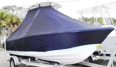 Sportsman Open 212, 20xx, TTopCovers™ T-Top boat cover, starboard front