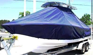 Sportsman Open 232, 20xx, TTopCovers™ T-Top boat cover, port front