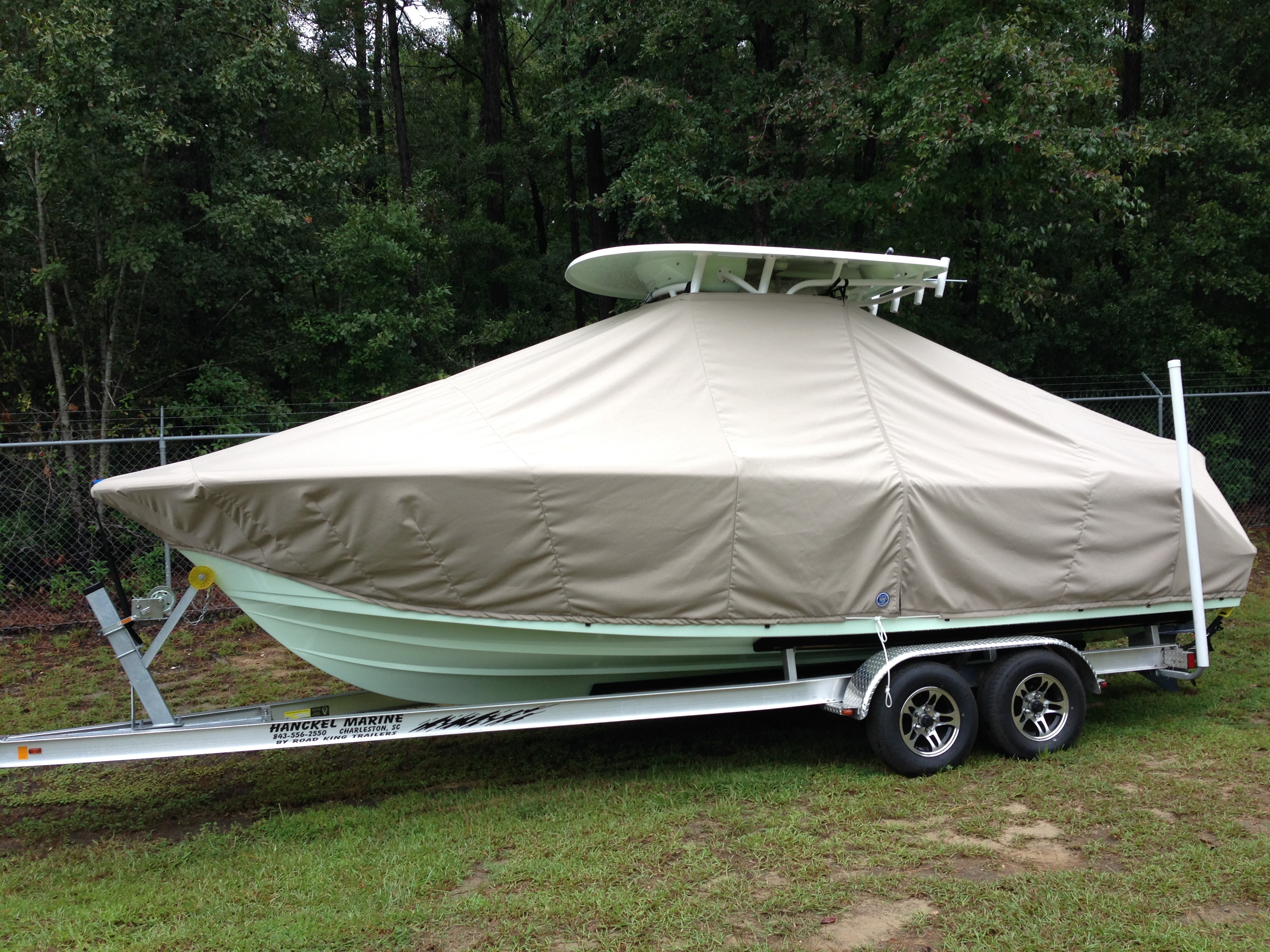 Sportsman Open 232, 20xx, TTopCovers™ T-Top boat cover, port side