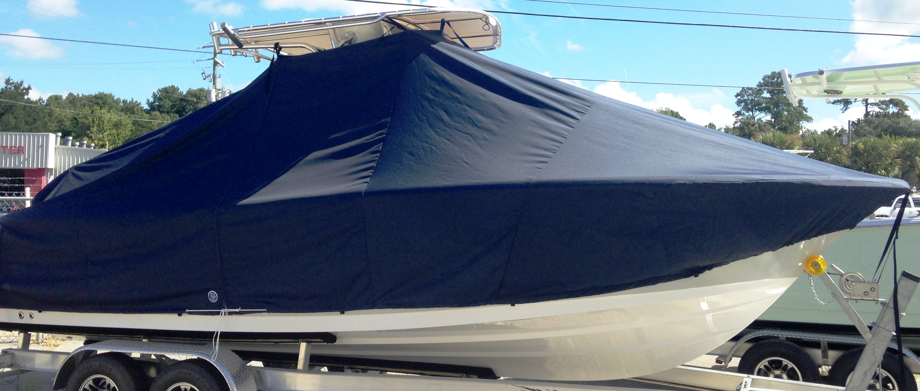 Sportsman Open 232, 20xx, TTopCovers™ T-Top boat cover, starboard side
