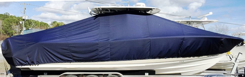 Sportsman Open 312, 20xx, TTopCovers™ T-Top boat cover, starboard side