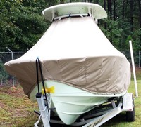 TTopCover™ Sportsman, Open Platinum 232, 20xx, T-Top Boat Cover, front