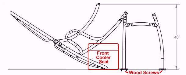 Stryker® T-Top does NOT lower very low, especially when cooler seat is in place