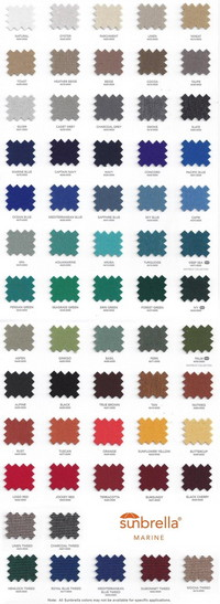 Sunbrella® Color Swatches