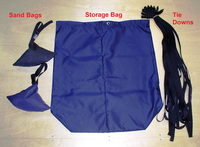 TTopCovers(r) Tie-Down, Storage Bags and Sand Bags